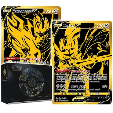 Zacian V & Zamazenta V - Sword & Shield Ultra-Premium Collection - PTCGO Codes