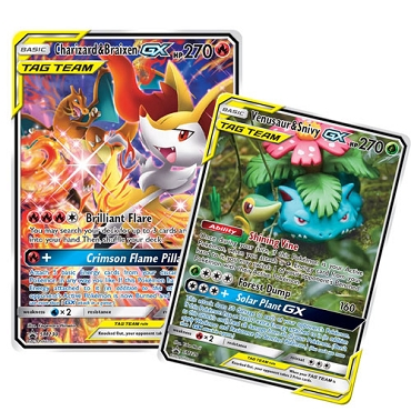 Charizard & Braixen-GX and Venusaur & Snivy-GX TAG TEAM Collection - PTCGO Codes