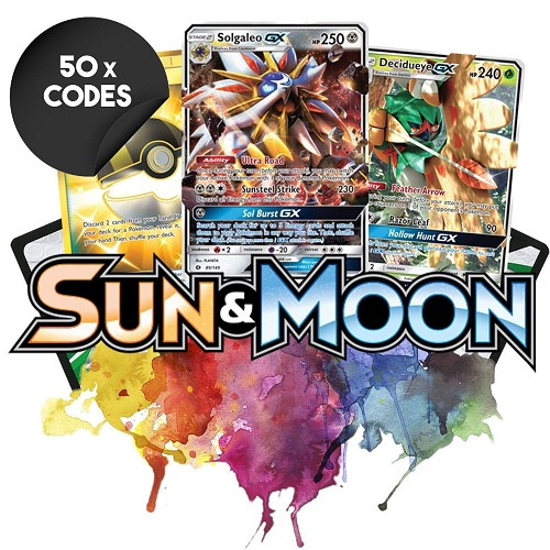 Bulk Sun & Moon - 50x Pokemon TCG Codes